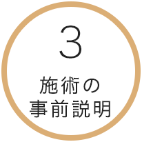 3.施術の事前説明